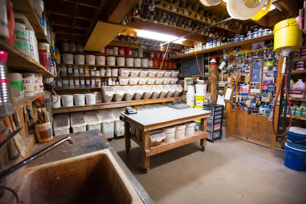 An alternate view of the ceramics studio